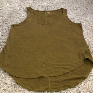 Olive brown colored tank size medium